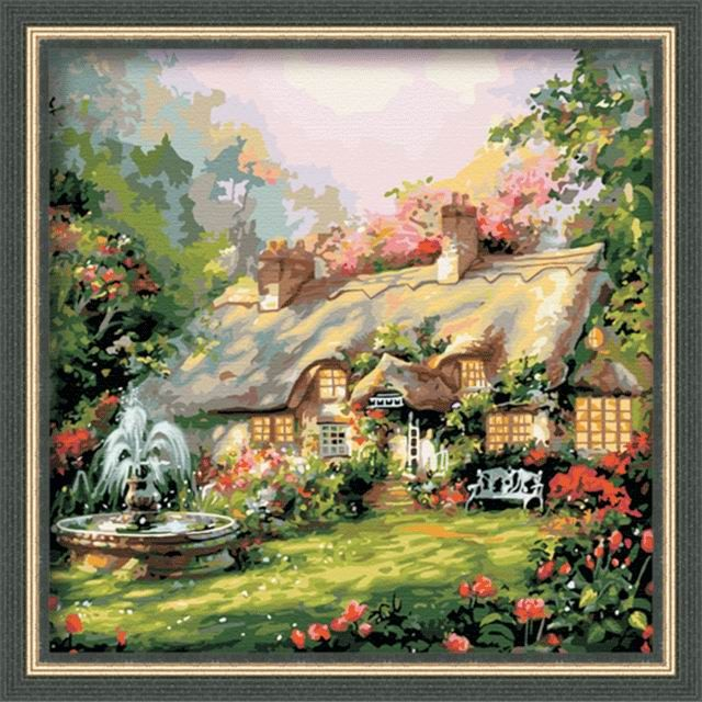 Cottage Paint By Number Kit Rh9002