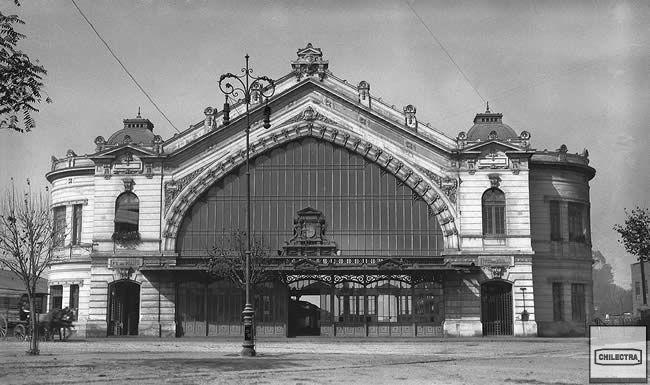 Desaparecida Estación de Ferrocarriles Pirque, Bustamante con Providencia. Mayo 29 de 1920. Archivo Fotográfico CHILECTRA