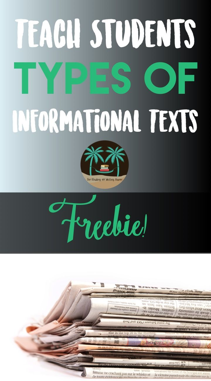 Are your students familiar with the various types of informational texts? I like to use this minilesson to introduce students to the plethora of informational sources available to them. This lesson is great for a genre unit or a nonfiction focus. It can also be used to introduce types of sources for a research paper, among other possibilities.