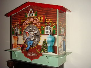 Jean Paul Gaultier Perfume gift box 1997 Cuckoo clock collectable rare display