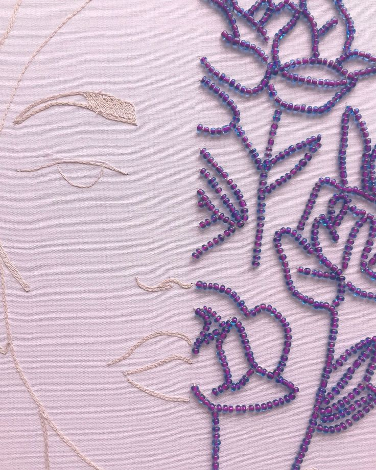 Embroidery Archive: 20172 Half face