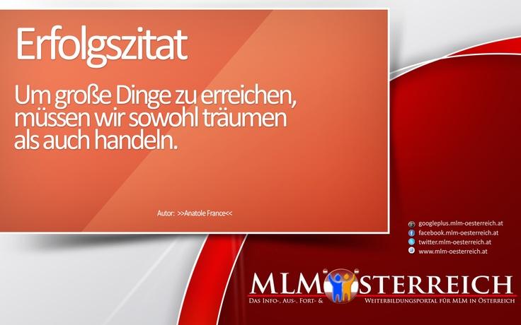 Erfolgszitat vom 20.05.2013 auf MLM-Österreich.at