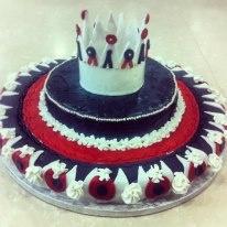 Red Queen's cake from Alice in Wonderland!