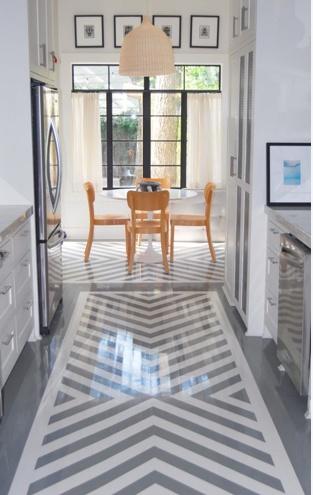 Painted -- chevron high-gloss kitchen