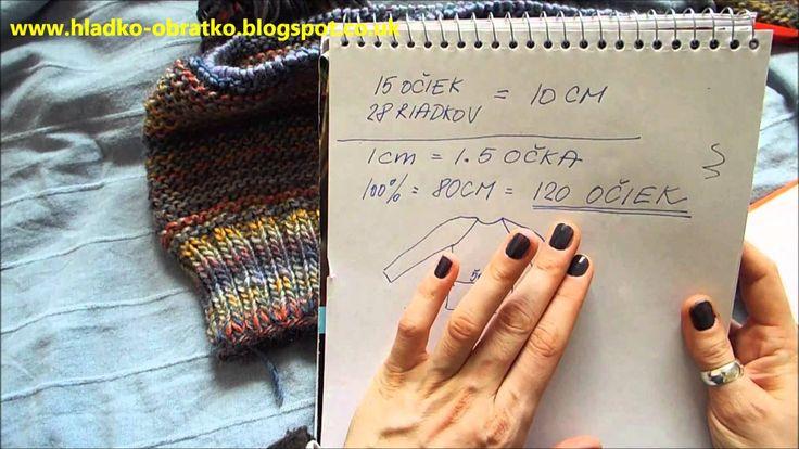Ako štrikovať sveter vcelku - 1 časť