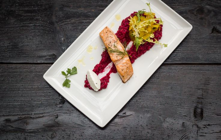 Grilled Norwegian Salmon steak with buckwheat & beetroot and fennel salad. #epopey #fusionhotel #prague