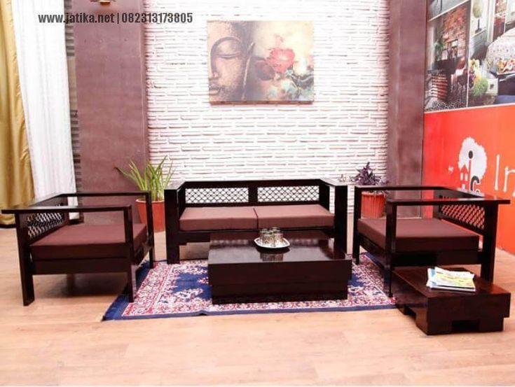 Set Kursi Tamu Minimalis Jati Modern ini kami konsisten dengan kualitas jadi kami menggunakan kayu jati pilihan, kayu terbaik dan cocok untuk furniture.