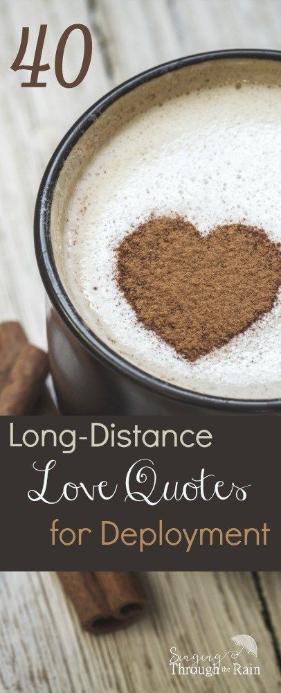 When my husband was in basic training I decided to send him a love letter every single day and include several long distance love quotes. I wanted to let him know that he was loved, thought about, and prayed for the entire time he was gone.