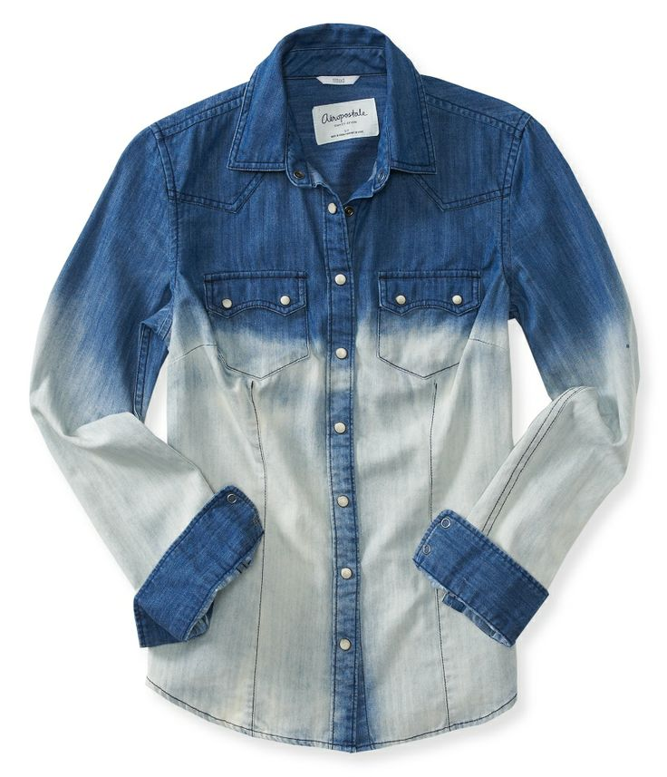 Dip-Dye Denim Shirt from Aéropostale