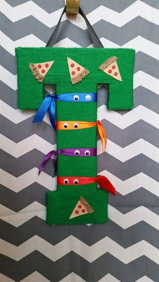 Ninja Turtle Hanging Wall letter by AHHandCraftables on Etsy