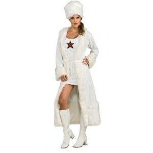 deguisement femme Russe blanc élégant
