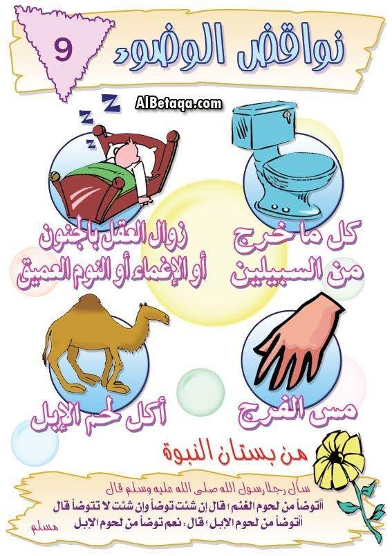 نواقض الوضوء Muslim Kids Activities Islamic Kids Activities Islam For Kids