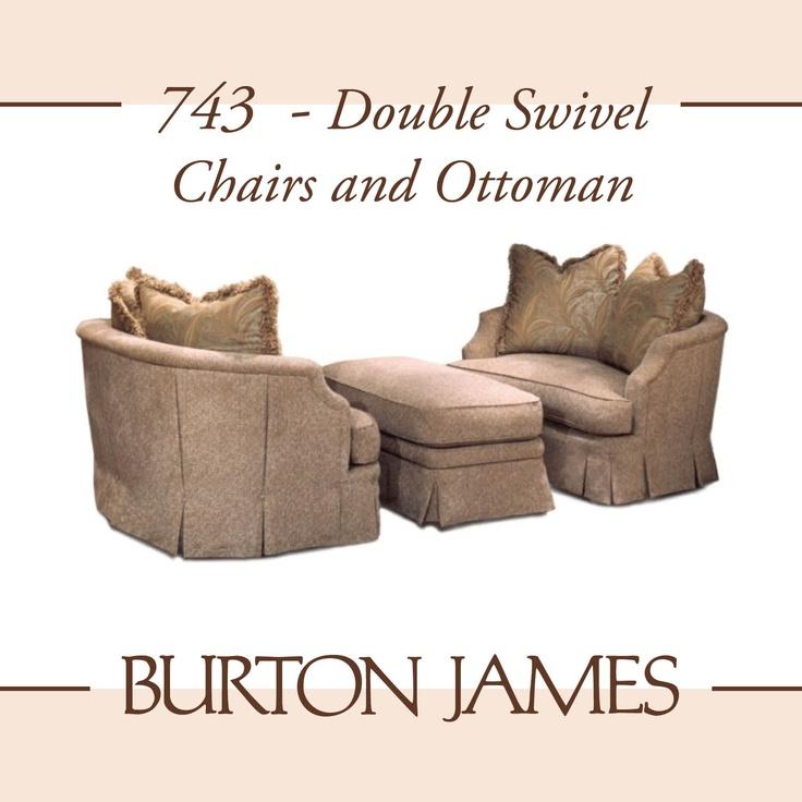 Burton James ~ 555 Double Swivel Chairs And Ottoman | Chairs | Pinterest | Swivel  Chair And Ottomans