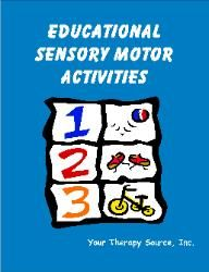 Educational Sensory Motor Activities.  Repinned by  SOS Inc. Resources.  Follow all our boards at http://pinterest.com/sostherapy  for therapy resources.