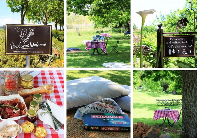 Hartenberg - Price: R175 per person Does it include wine? Yes (a bottle to share) Can you bring your own? No Kids basket available: On request Opening times: Monday to Saturday from 09:00 to 16:00 Contact: Tel 021 865 2541, www.hartenbergestate.com