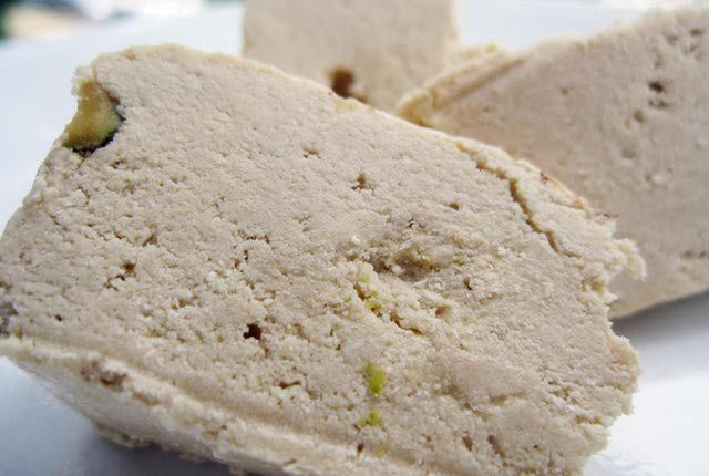 This is more like what I'm thinking of...Sesame Tahini Halvah: The Sweet That's Good for You