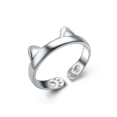 Description I don't know about you, but this little cat ring is a staff favorite, and so easy to adjust. You just need to very slowly stretch the paws a little for a perfect fit. This ring is like a l
