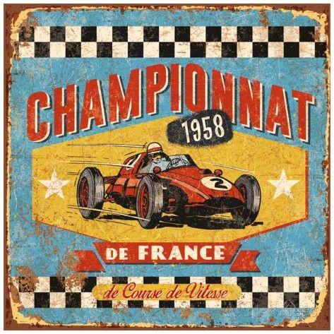 Championnat 1958 Reproduction d'art