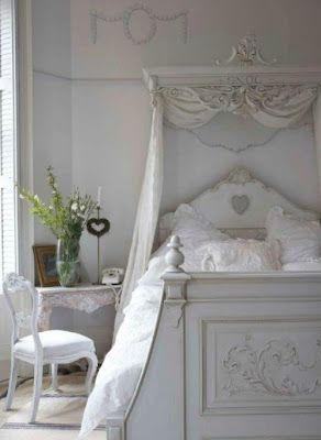 french style in all white has a shabby chic elegance this dreamy bedroom design is full of french details in the furnishings and linens