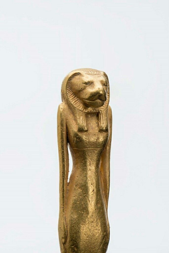Gold Bastet amulet inscribed for Pamay. Detail. Third Intermediate Period. 24th dynasty. 724–712 B.C. | The Museum of Fine Arts, Boston
