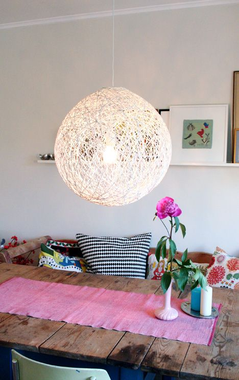 Whirl-it lampshade - Whirl-it lampshade - free DIY tutorial - Pickles