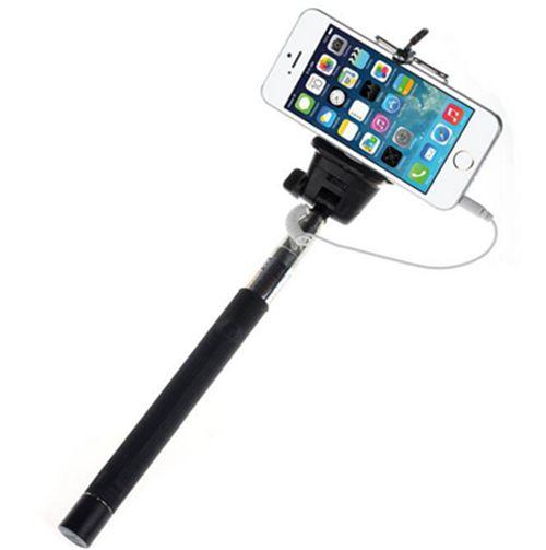 selfie stick handy extendable wired black camera holder cameras black and christmas list. Black Bedroom Furniture Sets. Home Design Ideas