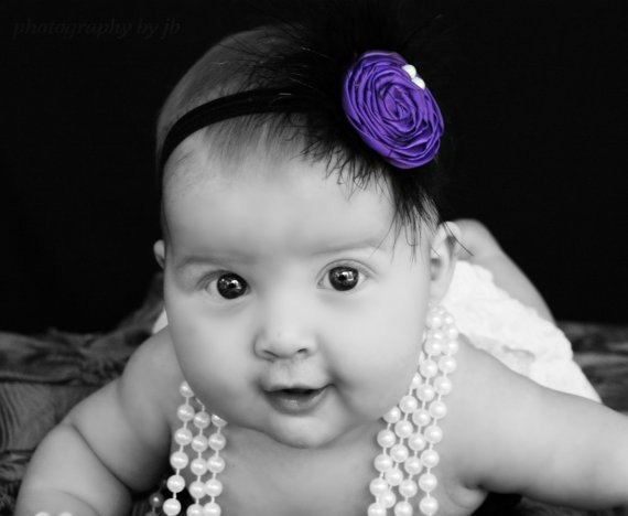 Positively Precious Purple Headband by MadewithMommaLove on Etsy, $9.00