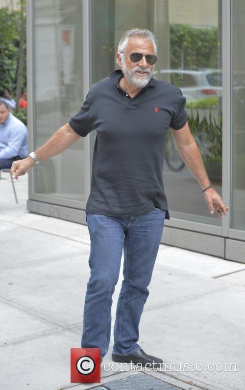 Jonathan Goldsmith - Jonathan Goldsmith smokes a cigar while out ...