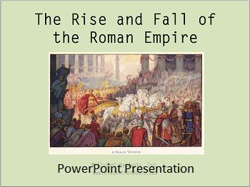 Rise and Fall of the Roman Empire - Free PowerPoint Presentation for junior and senior high school World History/Global Studies