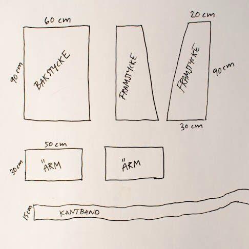 Några bloggläsare har hört av sig och vill veta vilket mönster jag använder  mig av när jag syr en kaftan/kimono.    Mönstret har jag ritat själv, och det är busenkelt!    De här är delarna som behövs. De här måtten är den storlek jag syr den i,  jag är en XL och vill ha kaftanen ganska