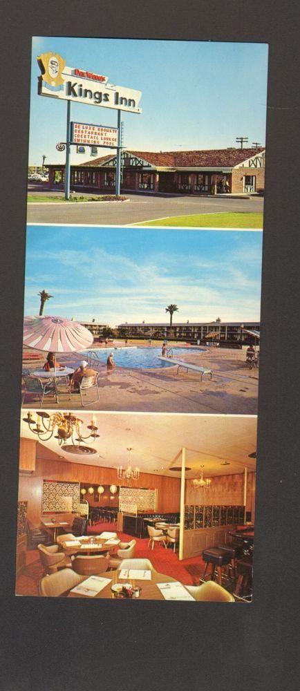 Undated Unused Oversized Postcard Del Webbs Kings Inn Sun City Arizona AZ