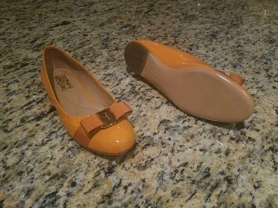 Salvatore Ferragamo Shoes / Orange Ballet Shoes / Ballet Flats
