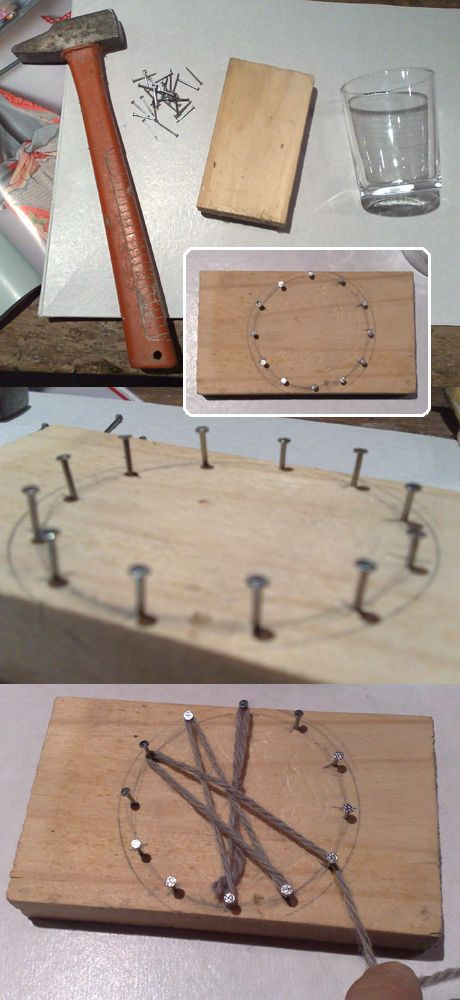 Tambouille» fleur en laine Homemade flower loom and chic outcome