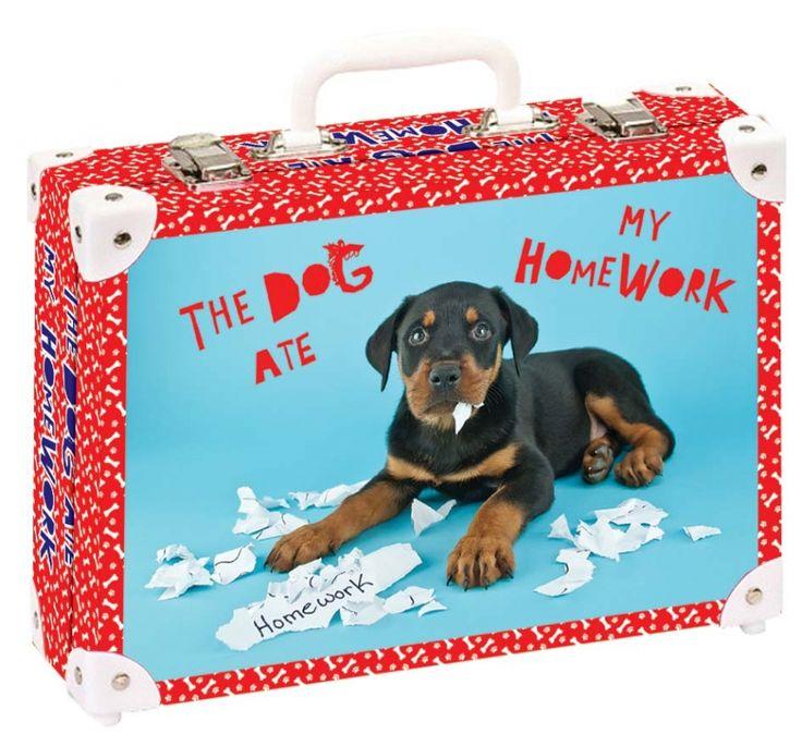 Školní kufřík malý - 33x23x10cm č. 21791 HK Malý  The dog ate my homework