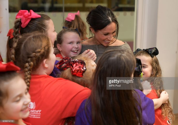 Meghan Markle attends a street dance class during her visit to Star Hub on January 18, 2018 in Cardiff, Wales.