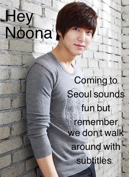 "Lee Min Ho ""Hey Noona"". GOSH DARN IT. I need to learn Korean >_<."