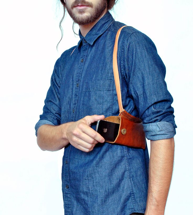 Leather iPhone Holsters by The Local Branch on Scoutmob Shoppe. A pair of leather holsters that frees up your pockets.