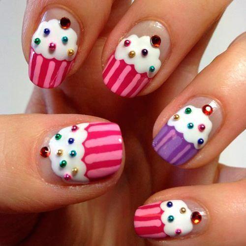 Cupcake Design 50 einfache und einfache Nail Art Designs ...
