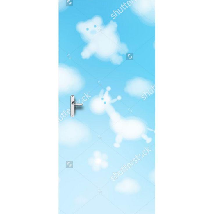 Deursticker Wolken dieren | Een deursticker is precies wat zo'n saaie deur nodig heeft! YouPri biedt deurstickers zowel mat als glanzend aan en ze zijn allemaal weerbestendig! Verkrijgbaar in verschillende afmetingen.   #deurstickers #deursticker #sticker #stickers #interieur #interieurprint #interieurdesign #foto #afbeelding #design #diy #weerbestendig #baby #babykamer #lucht #hemel #wolken #dieren #fantasie