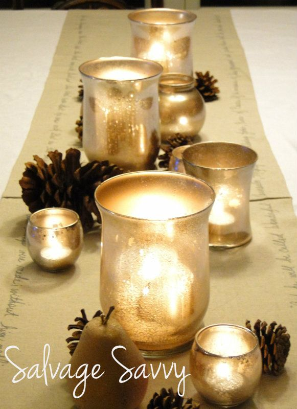 41 best Mercury glass images on Pinterest | Christmas deco ...