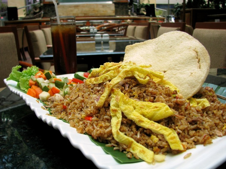 Nasi Goreng Jancuk a la Surabaya Plaza Hotel. It is called Nasi Goreng Jancuk because of its super spicy taste. When you come to Surabaya, you should try this super spicy Nasi Goreng!