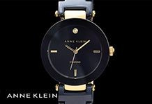 Black and gold is spot on trend this summer and you can't go wrong with this fabulous Anne Klein ceramic watch.