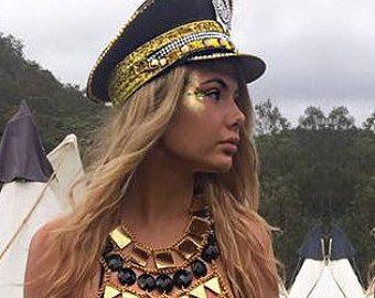 HET DERDE OOG  Captain's hoed militaire stijl Burning Man | Etsy