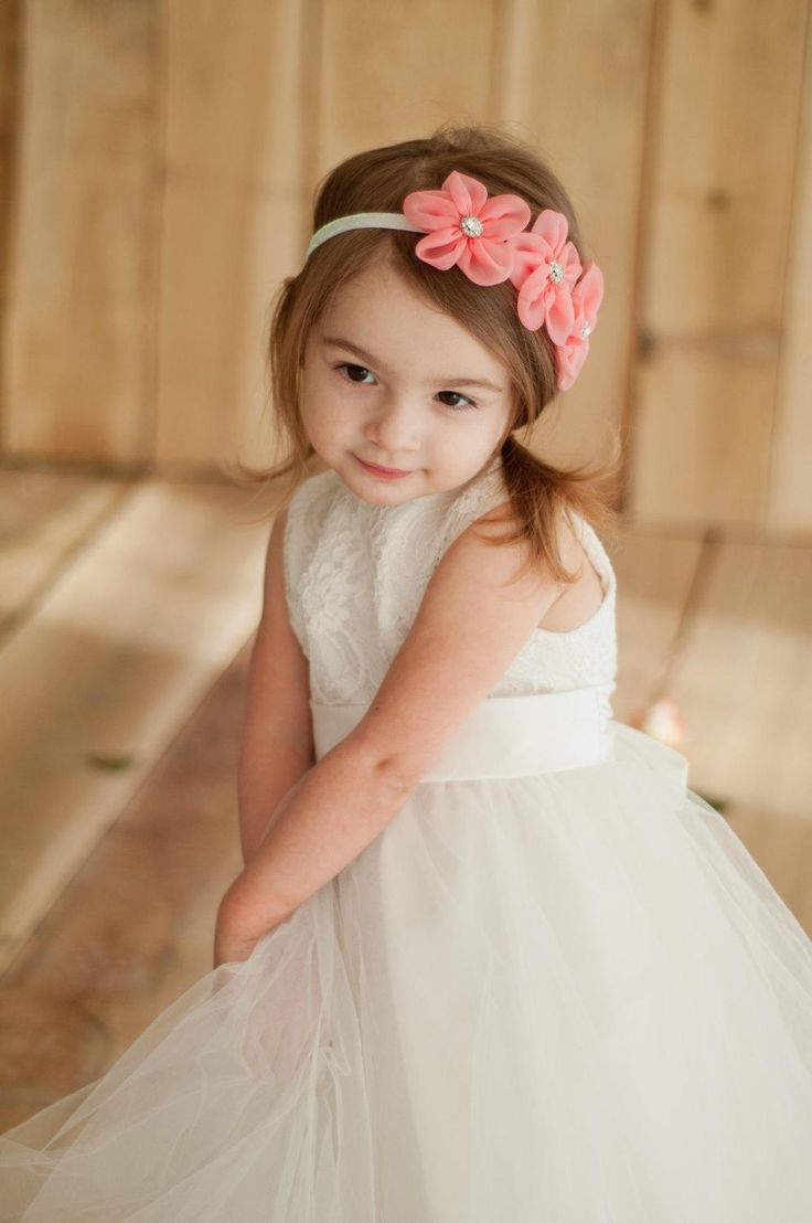 New Baby Rose Flowers Headbands Girl Chiffon Flower Headwear Kids Pearl Bow Hair Decoration Childrens Accessories