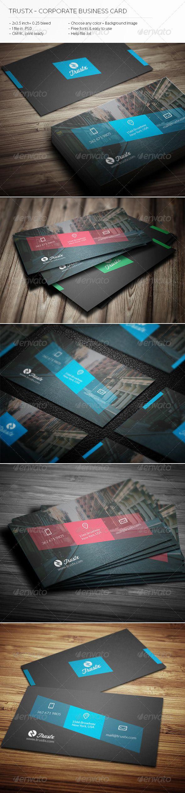 Best 18 business cards ideas on pinterest business card design trustx corporate business card httpgraphicriveritemtrustx solutioingenieria Gallery