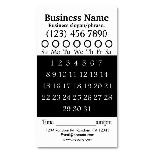 18 best business cards images on pinterest dj business cards black white hole punch appointment card colourmoves