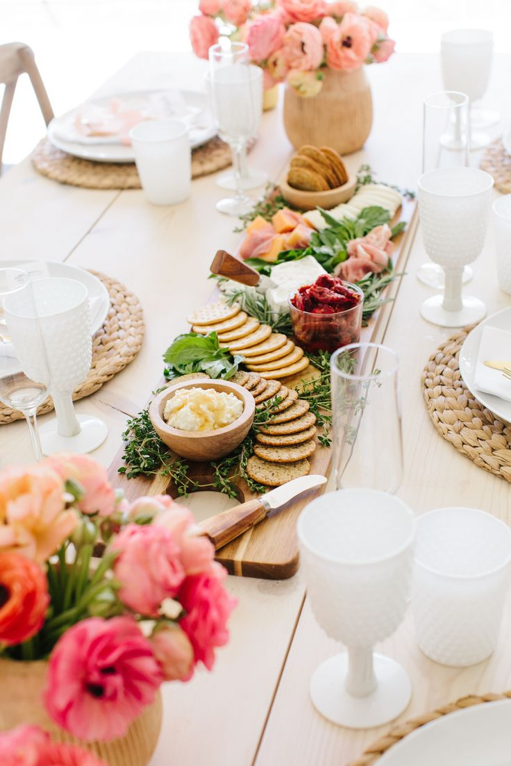 Gorgeous Spring Charcuterie Board   Spring Brunch styled by The TomKat Studio in partnership with Breton Crackers   Get more ideas, recipes + free printable designs on the blog!   #sponsored by Dare Foods