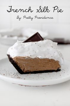 Oh my gosh this French silk pie is HEAVEN!!! Chocolatey perfection! Not for the faint of heart .