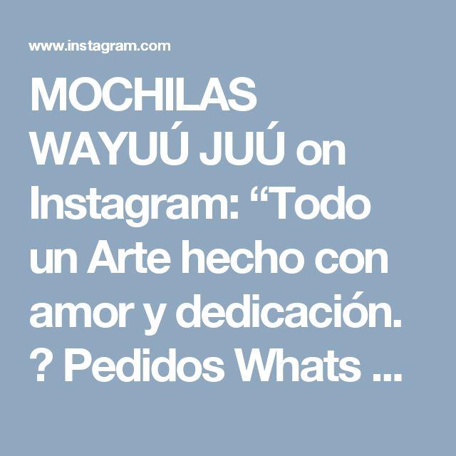 """MOCHILAS WAYUÚ JUÚ on Instagram: """"Todo un Arte hecho con amor y dedicación. 😍  Pedidos Whats App 📲📞☎ (+57) 3215931744 💜 👉 pide tu mochila decorada con CRISTALES o sin…"""""""
