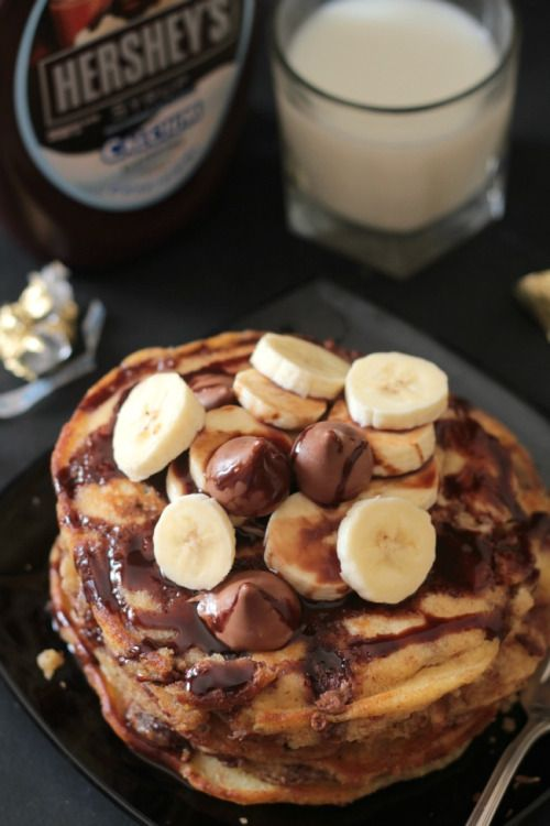 foodffs: Hersheys Kisses Chocolate Stuffed Pancakes Really nice recipes. Every hour. Show me what you cooked!